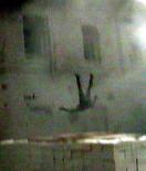 La chute du mirador est en fait protegée par des cartons